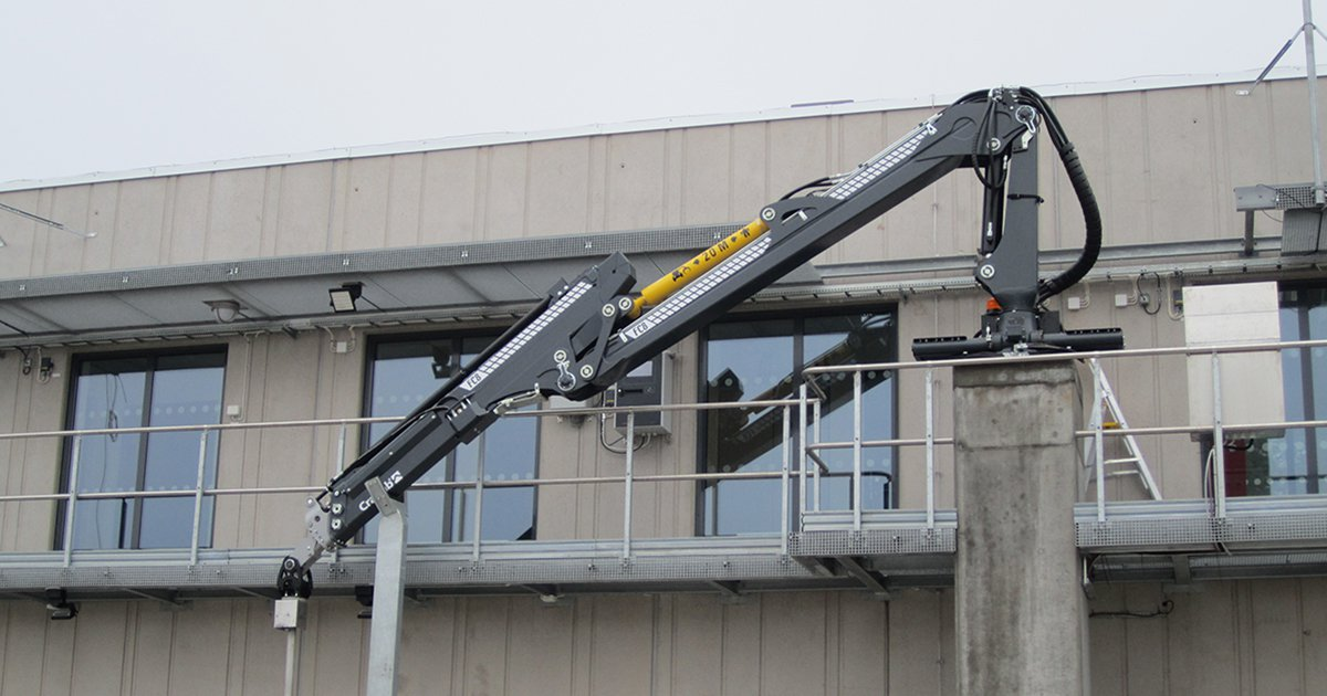 Cranab stationary mounted crane