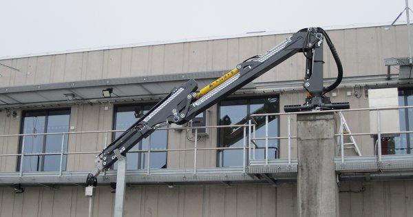 Cranab stationary mounted crane