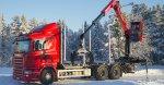 Cranab truck crane TL12