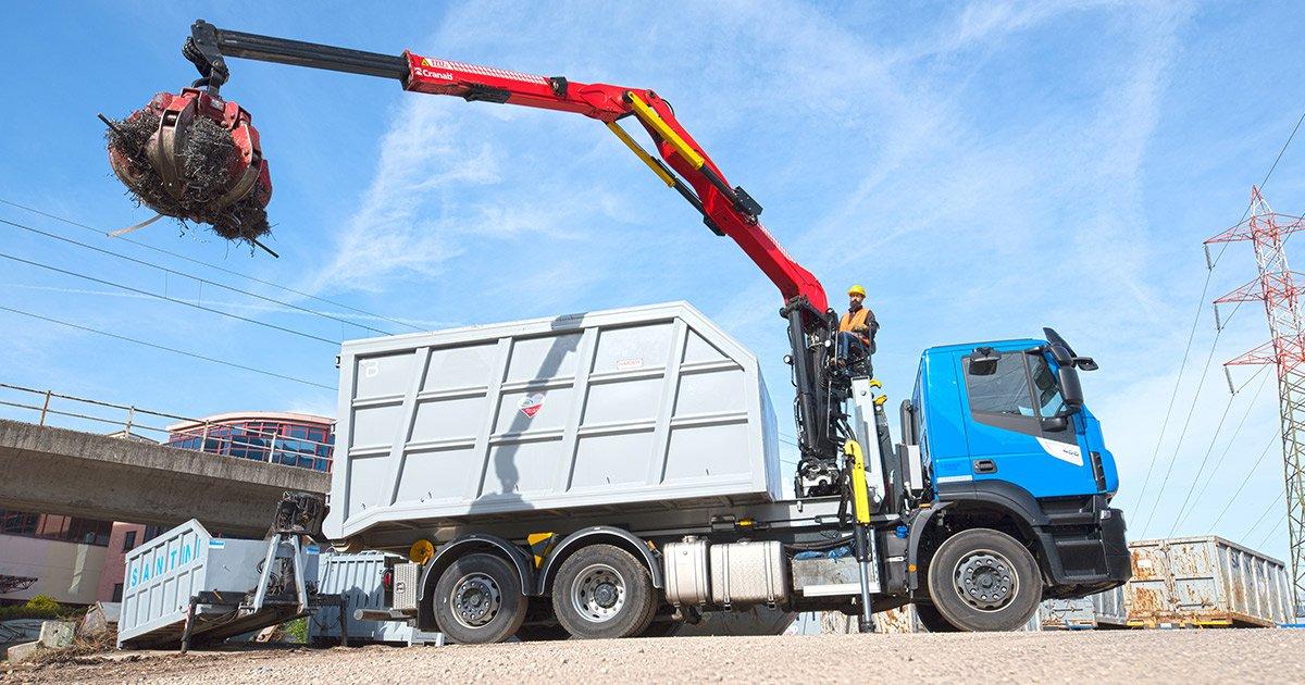 Cranab truck crane TZ12
